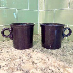 Set of 2 Fiestaware Purple Plum Coffee Mug Cups